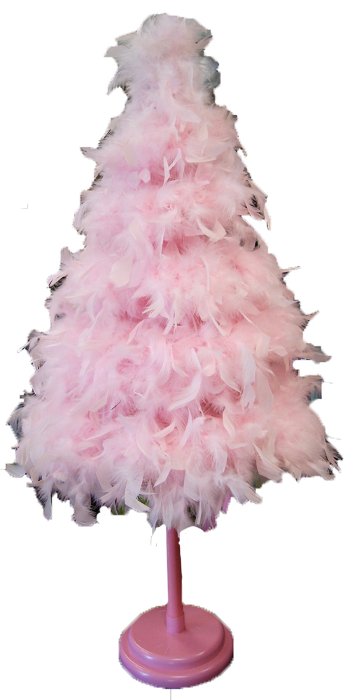 Pink Feather Christmas Trees Archives It's All About The Bling! - Pink Feather Christmas Tree