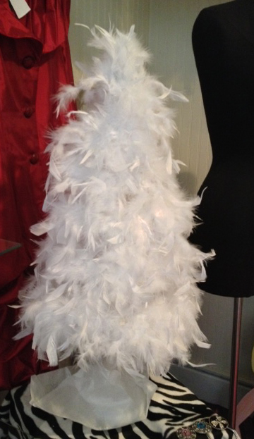 back in stock white feather trees for immediate shipping - White Feather Christmas Tree